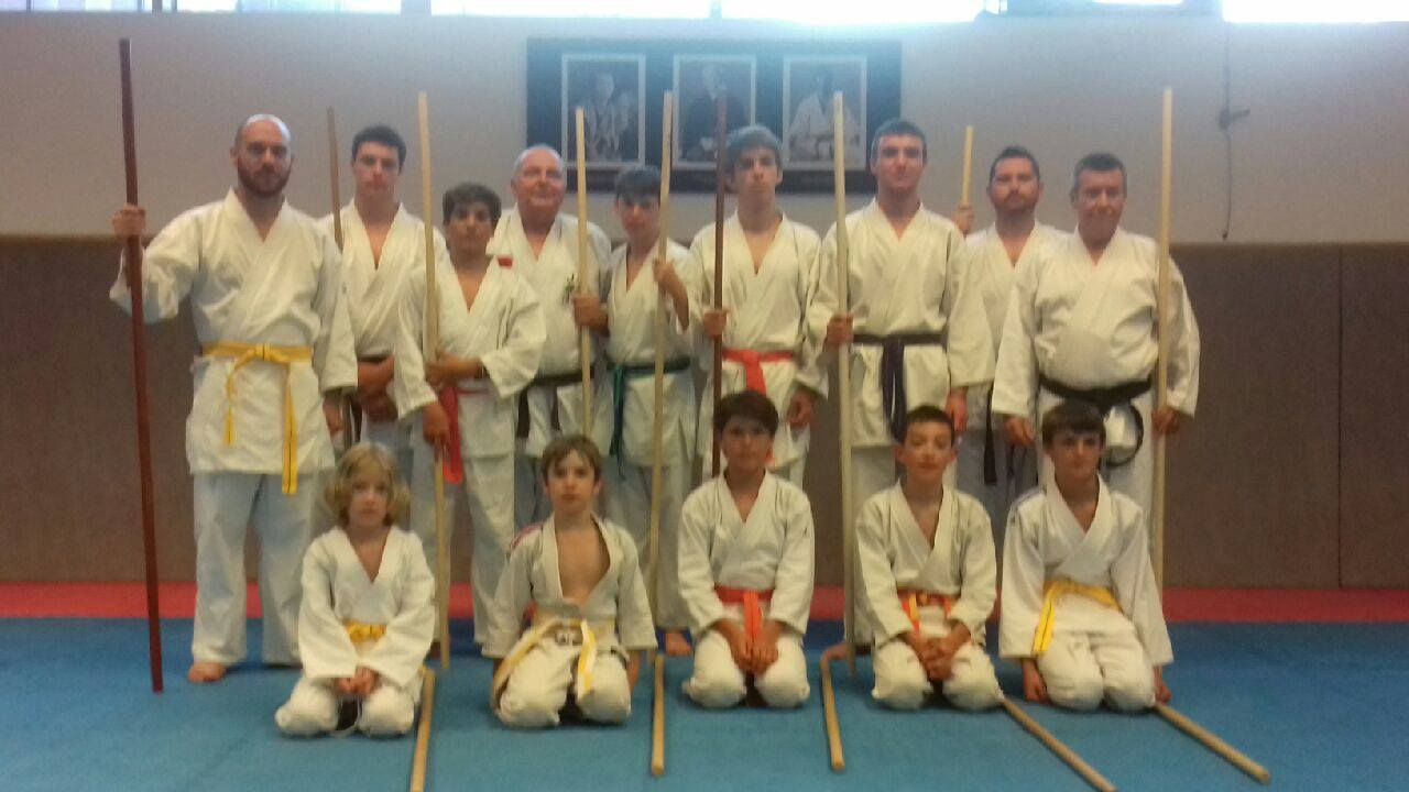 Photo de groupe passage de grade bo jutsu saison 2017-2018