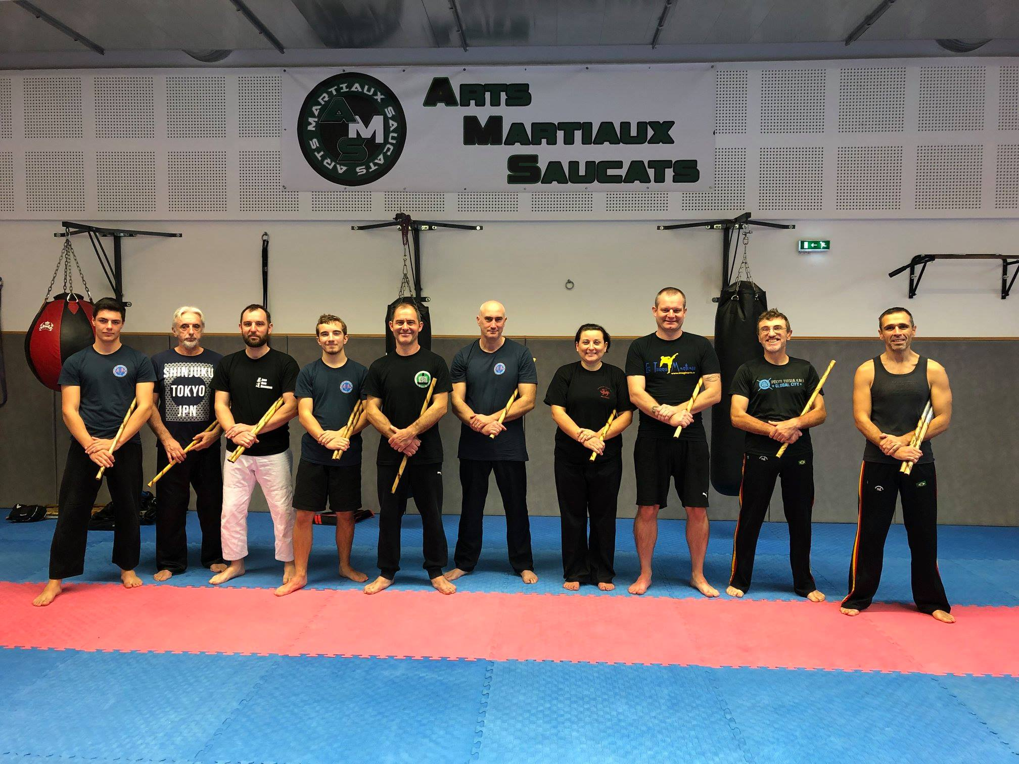 Photo de groupe stage Arnis Doblete Rapilon décembre 2018