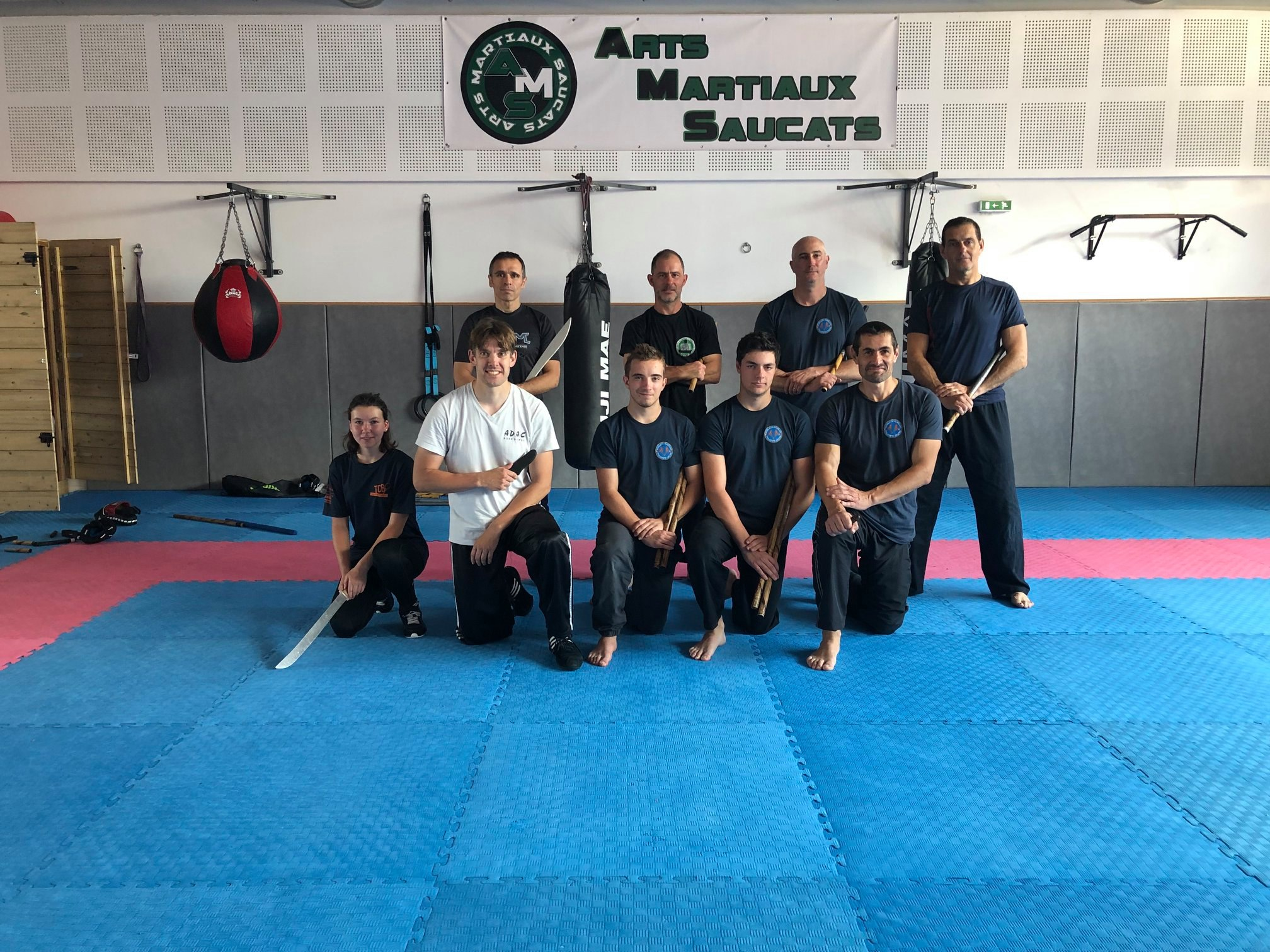 Photo de groupe stage Arnis Doblete Rapilon juin 2019