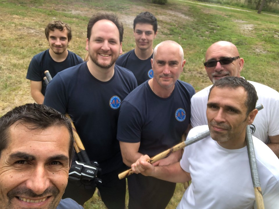 Photo de groupe stage Arnis Doblete Rapilon mai 2019