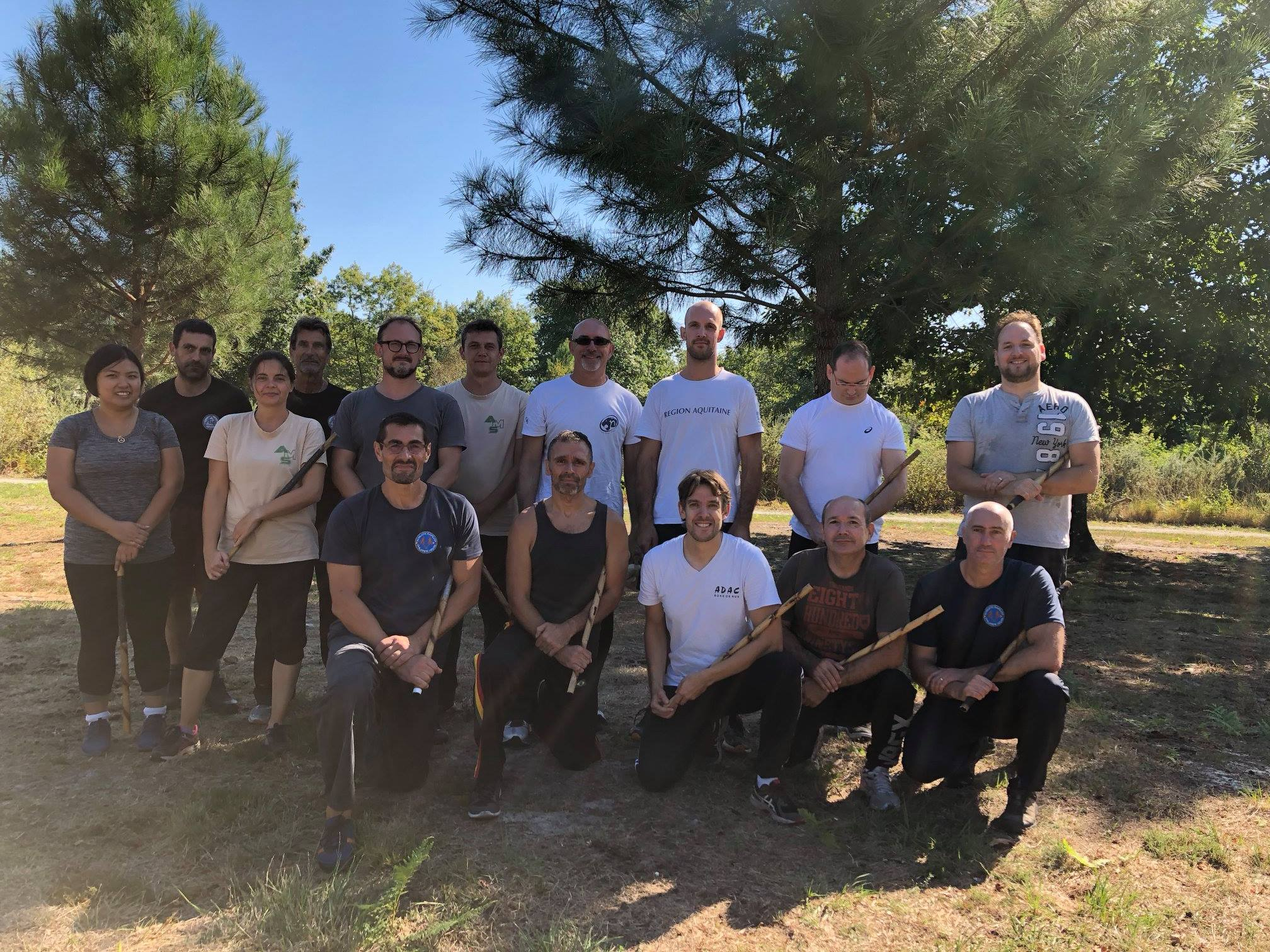 Photo de groupe stage Arnis Doblete Rapilon septembre 2018