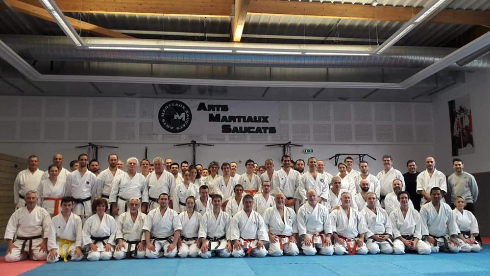 Photo de groupe stage Paolo Bolafio karate janvier 2019