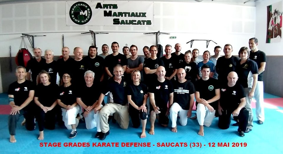 Photo de groupe stage karate defense spécial grade mai 2019