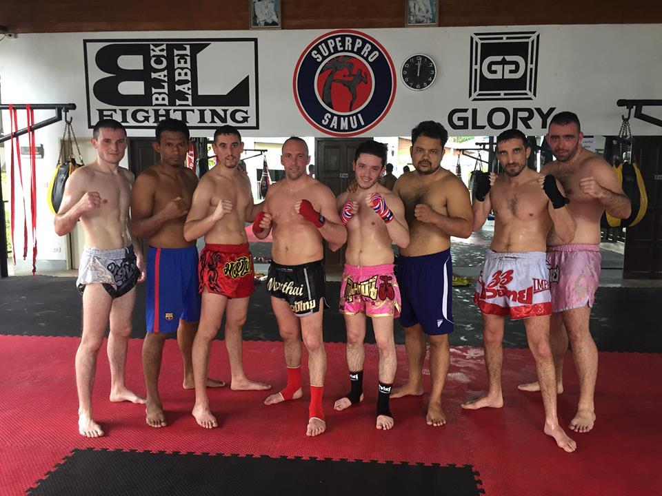 Mars 2018 Muay Thai voyage en thailande Richard Bey, David Pereira, Brandon Montarras